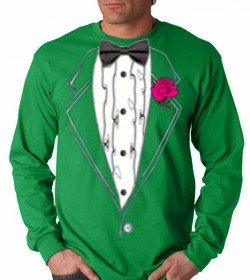 Saint Patrick's day green tuxedo t-shirt
