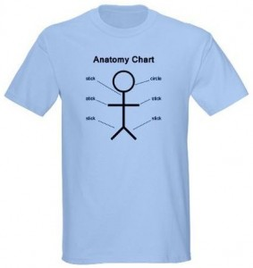 Stick figure Anatomy Chart