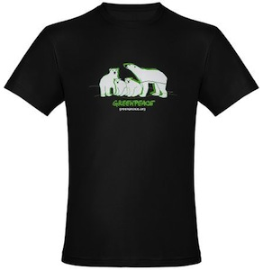 Greenpeace Polar Bear Family t-shirt