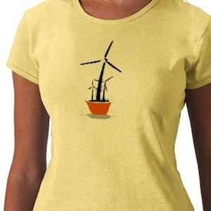 Windpower flower t-shirt