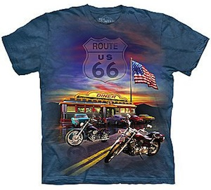 US Route 66 diner t-shirt