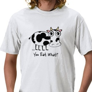 Cow asks you eat what t-shirt