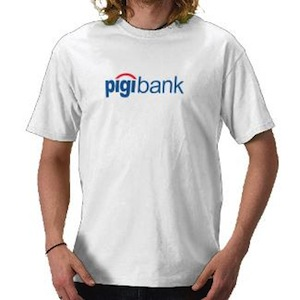 Funny pigibank t-shirt