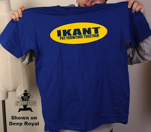 Ikant put furniture together t shirt for Furniture you put together