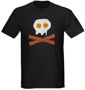 Bacon And Eggs Skull T-Shirt