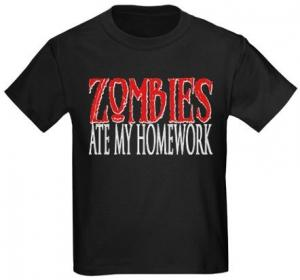 Zombies Ate My Homework Kids T-Shirt