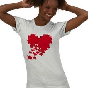 heart jigsaw puzzle t-shirt