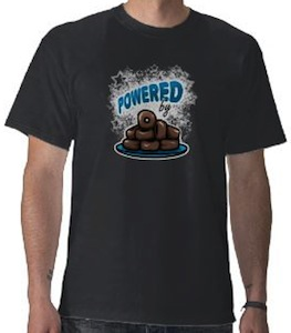 Powered By Mini chocolate Donuts T-Shirt