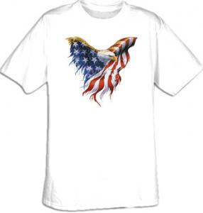 Bald Eagle USA Flag