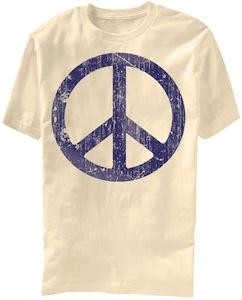 Big peace sign t-shirt