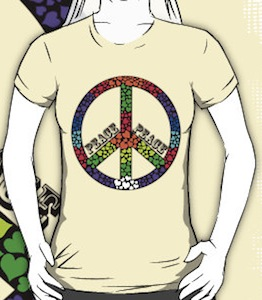 Peace and hearts t-shirt