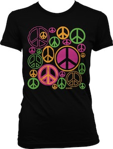 Neon Peace Signs T-Shirt