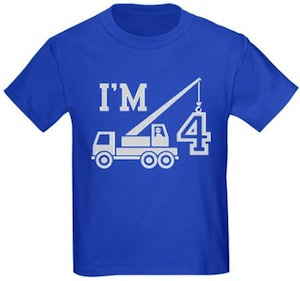 4th Birthday t-shirt with a crane