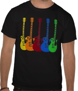 Five Colorful Guitars T-Shirt