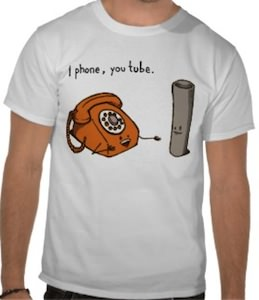 Funny iPhone You Tube T-Shirt