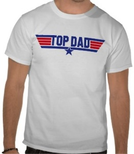top gun fathers day t-shirt