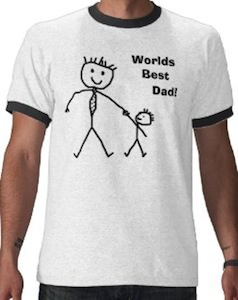 World Best dad stick figure t-shirt