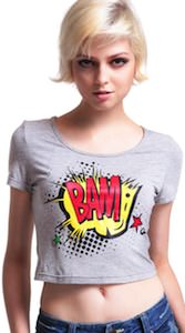 women's Cartoon Bam midriff T-Shirt