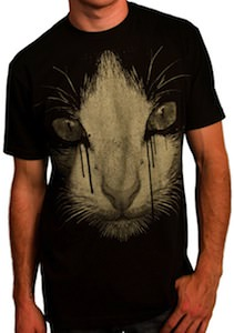 crying ink cat t-shirt