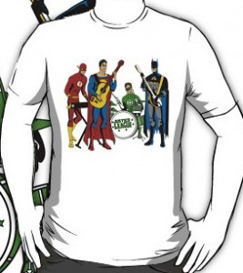 Justice League Rock Band T-Shirt