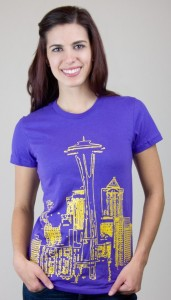 Seattle Line Art T-Shirt
