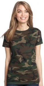 Womens Fitted Camouflage T-Shirt