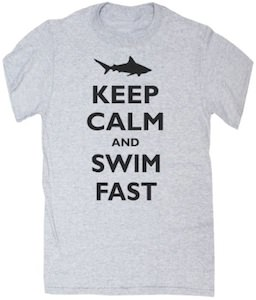 Shark Keep Calm And Swim Fast T-Shirt