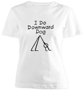 Downward Dog Stick Figure T-Shirt