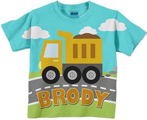 Dump Truck Kids T-Shirt