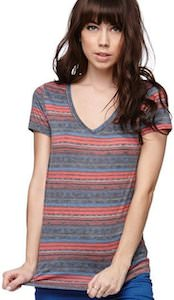Blue Red Lines T-Shirt
