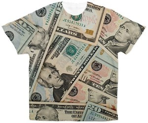 Dollar bill t-shirt