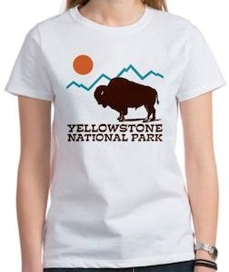 Yellowstone National Park Buffalo T-Shirt