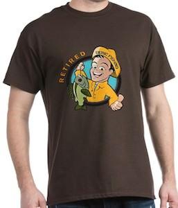 Retired Gone Fishing T-Shirt