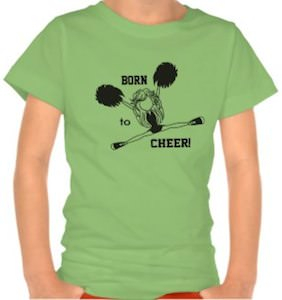 Born To Cheer Cheerleader T-Shirt