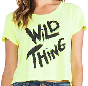 girls neon Green Wild Thing T-Shirt