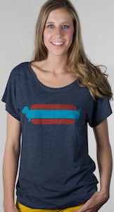 Women's Hot Dog T-Shirt