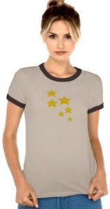 Yellow Stars Women's T-Shirt