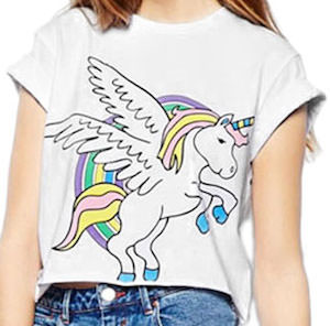 women's Flying Unicorn T-Shirt