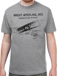 Wright Brothers Aeroplane Design T-Shirt