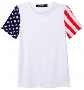 American Flag Sleeves T-Shirt