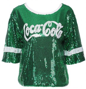 Coca Cola Print Sequin T-Shirt