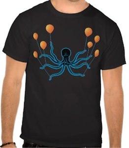Flying octopus t-shirt