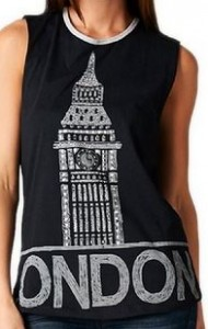Big Ben London Rhinestone Tank Top