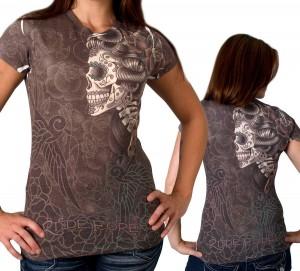 Double Sugar Skull Womens T-Shirt
