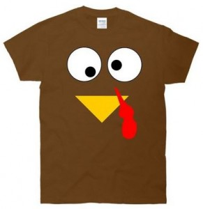 Gobble Gobble Turkey Face T-Shirt