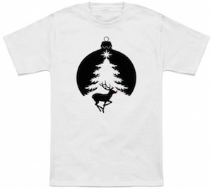 Christmas Ornament With Rudolph T-Shirt