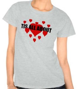 Tis All About Love Women's T-Shirt