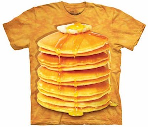A Stack Of Pancakes On A T-Shirt