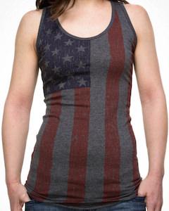 US Flag Distressed Looking Tank Top