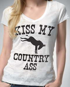 Kiss My Country Ass Women's T-Shirt